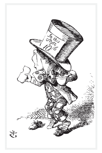 Mad Hatter from Alice in Wonderland by Sir John Tenniel