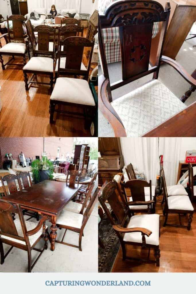 Before and After of the Upholstered dining chair seats