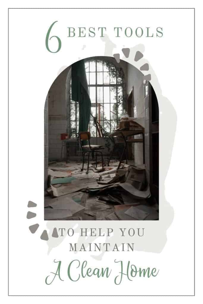 arched photo of a messy room  6 best tools to help you maintain a clean home
