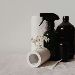 natural cleaning products in glass amber bottles organization and cleaning by capturing wonderland